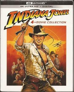 INDIANA JONES 4K ULTRA HD 4-MOVIE COLLECTION ALL 4 FILMS BRAND NEW SEALED 2021