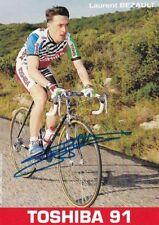 CYCLISME carte cycliste LAURENT BEZAULT équipe TOSHIBA 1991 signée
