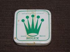 """VINTAGE 1 5/8' X 1 5/8"""" AMERICAN ROLEX WATCH CORP SMALL TIN PARTS BOX *EMPTY*"""