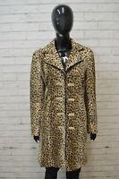 I GABBIANI Giacca Donna Casual 44 M Cappotto Jacket Woman Giubbino Leopardato