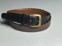 Trafalgar Brown Leather TX 41 5 Brass Buckle Mens Belt Sz 38/95