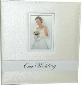 Our Wedding Day Photo Album Bridal Shower Gift Present 144 photos 18 pages Ivory