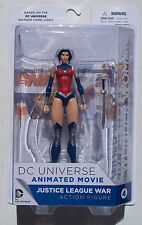 DC UNIVERSE. JUSTICE LEAGUE WARS. WONDER WOMAN ACTION FIGURE. NEW ON CARD.