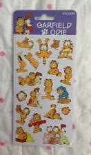 Garfield e Odie (con gli amici) Foglio Adesivo Nuovo Sigillato 19 Adesivi