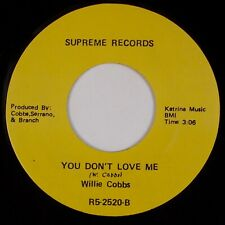 WILLIE COBBS: You Know I Love You / You Don't Love Me SUPREME R&B Soul 45 NM