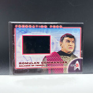STAR TREK 35th ANNIVERSARY film cell insert card federation foes ff5 Romulan 35