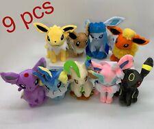 9X Pokemon Plush Eevee Sylveon Glaceon Jolteon Flareon Umbreon Espeon Soft Toy