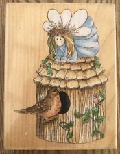 Stamps Happen Sparrow Bird House Fairy Rubber Stamp 80103