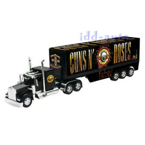 NEW RAY Guns n Roses Kenworth W900 Truck Trailer Diecast Plastic 1/32 12543