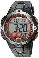 Timex Ironman Men's Quartz Watch LCD Dial Digital Display  Black Resin Strap