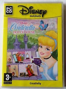 DISNEY HOTSHOTS CINDERELLA DOLL'S HOUSE PC CD-ROM CREATIVITY GAME new & sealed