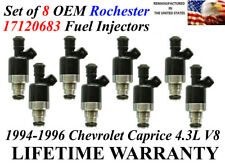 Genuine Rochester Set of 8 Fuel Injectors for Chevrolet Chevy Caprice 4.3L