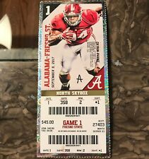 2017 Alabama vs Fresno State Ticket Stub DA'RON PAYNE 09/09/2017 NM+ 358 2 1