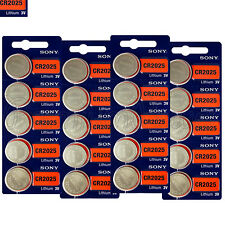 20 x SONY CR2025 Lithium batteries 3V DL2025 Coin Cell Watch Alarms EXP:2025