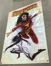 Spiderwoman cartoon comic book Canvas banner store display poster figure model
