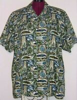 Eddie D. Island Inspired Mens 1XB Hawaiian Aloha Camp Shirt