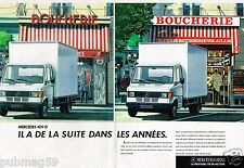 Publicité advertising 1987 (2 pages) Fourgons camionnette camion Mercedes 409 D