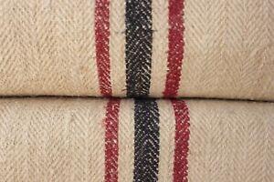 STAIR RUNNER HEMP fabric material HOMESPUN grainsack grain sack PER YARD