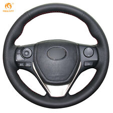 TOP PU Leather Steering Wheel Cover for Toyota RAV4 Corolla Auris Scion iM 2016