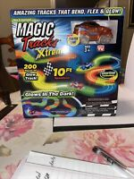 Magic Tracks Xtreme with Race Car -10 FT Speedway 200 Pieces of Glow Track