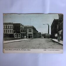 Jefferson and Franklin Sts. Huntington Indiana Unposted Postcard