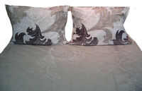DaDa Bedding Soft Paisley Floral Leaves Fitted Sheet Set & Pillow Cases Shams