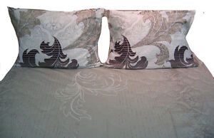 DaDa Bedding 2 PCs Paisley Floral Leaves Fitted Sheet Set & 1 Pillow Case, Twin
