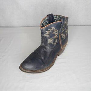 Laredo Womens Boots Leather Short Cowboy Western Ankle Height w/ Heel Size 8.5 M