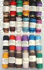 4 Packs of 12 Colors Hemp Cord 0.5mm + 1mm ~ Total 48 spools of Colored Twine