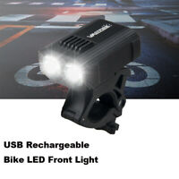 MTB LED Light Bike Headlight Cycling 1000LM Front Lamp USB Rechargeable Light K