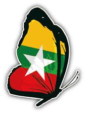 10cm!Aufkleber Wetterfest Burma Flag Flagge Fahne Wappen Schmetterling G2350