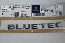 "Genuine Mercedes-Benz W205 C-Class Rear Boot ""BLUETEC"" Badge A2058171515 NEW"