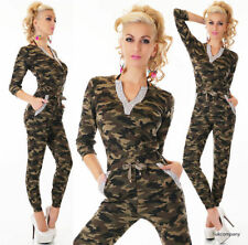 Cotton V Neck Long Sleeve Jumpsuits & Playsuits for Women