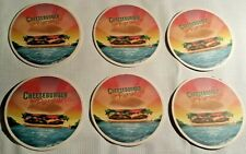 New listing Lot of 6 Cheeseburger in Paradise Cardboard Coasters ~ Collectible Man Cave Bar