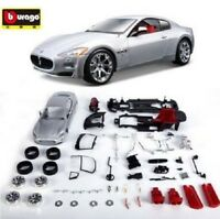 Bburago 1:24 Maserati GT Assembly DIY Racing Car Diecast MODEL KITS Toy Vehicle