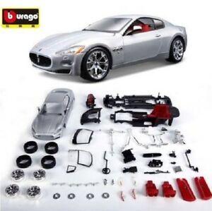 1:24 Bburago Maserati GT Assembly DIY Racing Car Diecast MODEL KITS Toy Vehicle