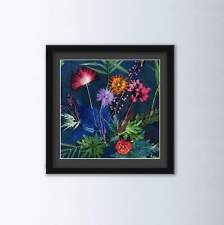 More details for indigo tropical floral art print by gillian arnold