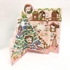 Jolly Mini Santas Christmas Decoration Pop Up Card - Christmas Gift