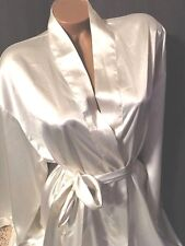 VICTORIA'S SECRET CHEMISE BABY DOLL ROBE SOFT IVORY NEW OLD STOCK CHEMISE