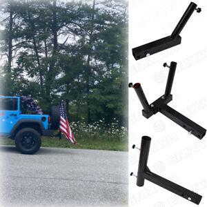 "2"" Single Hitch Mount Flag Pole Holder Truck Car SUV With Mount Hardware NEW Set"