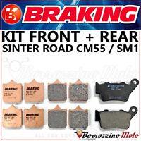 KIT PASTIGLIE FRENO BRAKING ANTERIORE POSTERIORE KTM SUPER DUKE 990 2005 - 2011