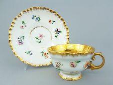 Meissen Tasse mit reliefierten bunt bemalten Blumen, 1. Wahl, um 1860 #4