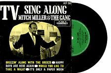 """MITCH MILLER AND THE GANG - TV SING ALONG - RARE EP 7"""" 45 RECORD PIC SLV 1960s"""