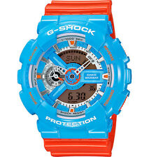 Casio GA110NC-2A Men's Ana-Digi Alarm Chronograph Blue Orange G Shock Watch