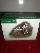 Dept 56 New England Village Men Pitching Horseshoes Pre owned
