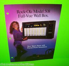 508 WALL BOX By ROCK OLA 1980 ORIGINAL JUKEBOX MUSIC PHONOGRAPH SALES FLYER