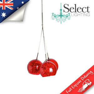 METEOR - 3 LIGHT CLUSTER PENDANT RED