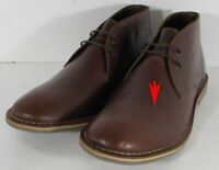 $69 Franco Fortini Mens Dade Leather Chukka Boot Shoes, Brown, US 12