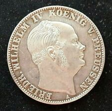 Preussen Sterbetaler 1861 A,Friedrich Wilhelm lV., VZ aus Erstabschlag