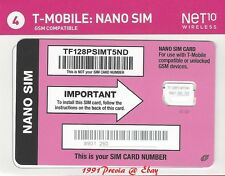 NET10 NANO SIM CARD For use with T-Mobile-Compatible Devices ( BYOP )